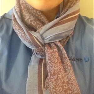 Chase bank employee apparel gauze scarf Lands' End