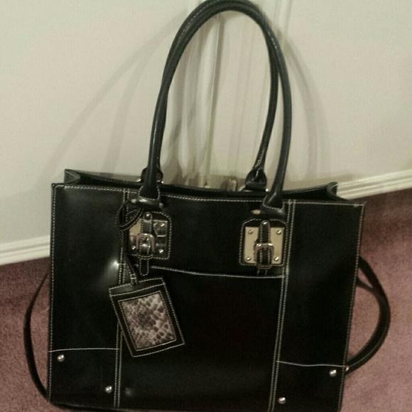 59% off Wilsons Leather Handbags - Wilson Leather Black Tote Bag ...