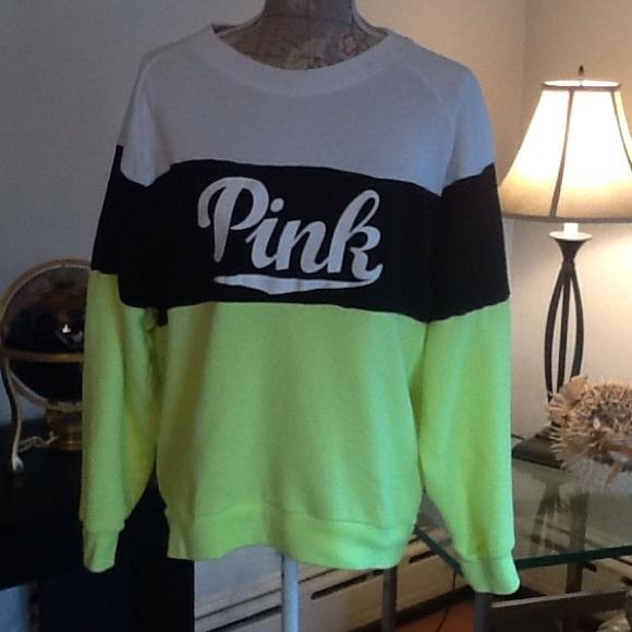 PINK Victoria's Secret - VS PINK colorblocked crewneck sweatshirt ...