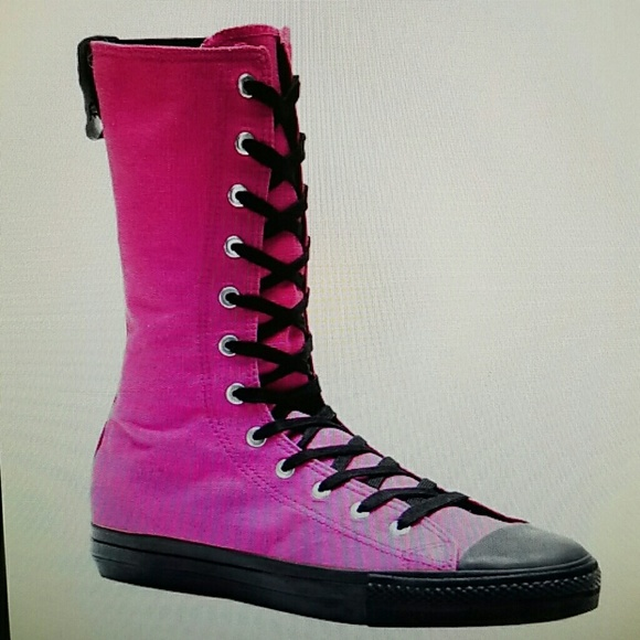 809268645bd Demonia Pink ultra high top boots sneakers 8