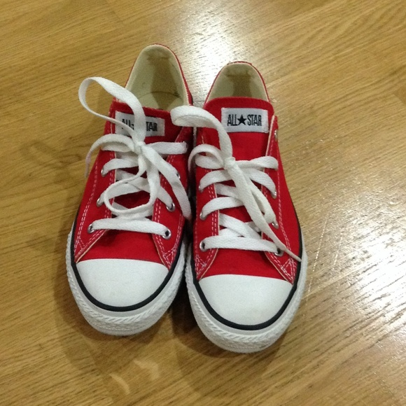 Red Converse Chuck Taylors Youth Size