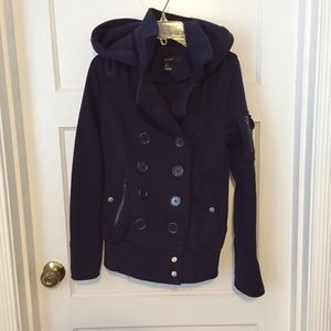 F21 Fleece Peacoat Jacket
