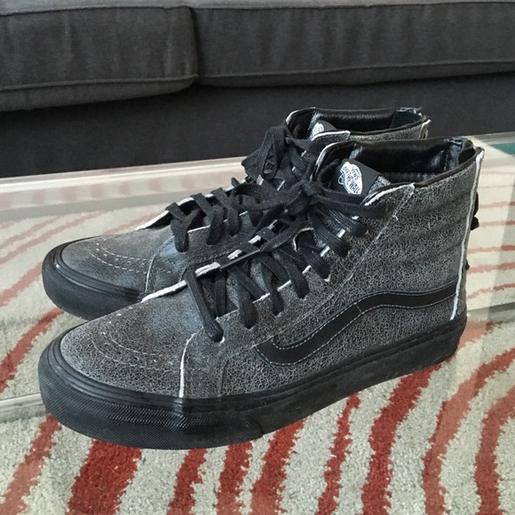 Brand New Vans Distressed Leather High