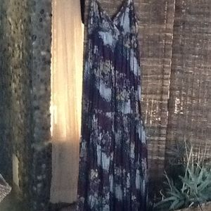Purple floral tired maxi from Anthropologie