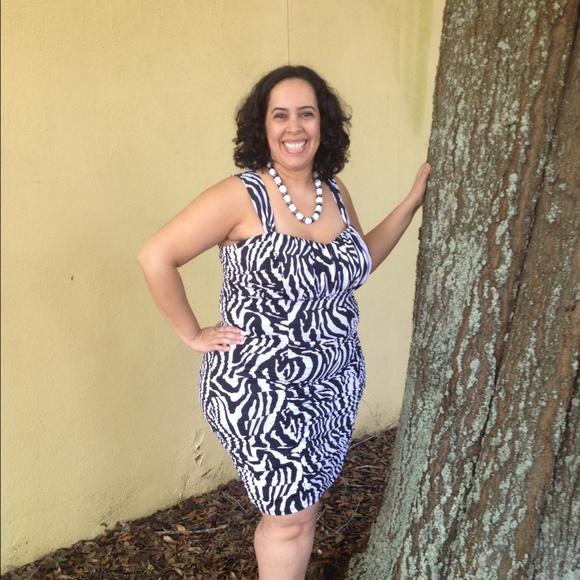 Dresses | On Hold Plus Size 2x18w Zebra Print Dress | Poshmark