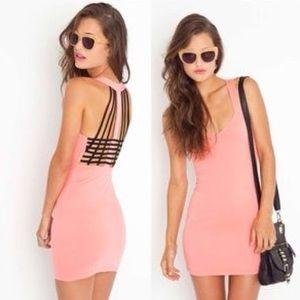 Motel Rocks Dresses & Skirts - MOTEL ROCKS 💗 Coral Cotton Stretch Dress