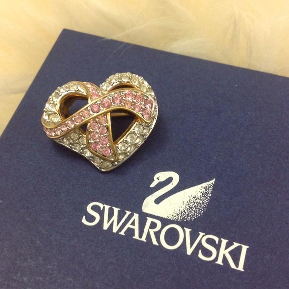 Swarovski Breast Cancer Heart Brooch. M_5611aaff7f0a0586d00149f8