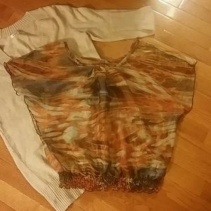 Charlotte Russe Tops - Cute Sheer Top by Charlotte Russe -Small