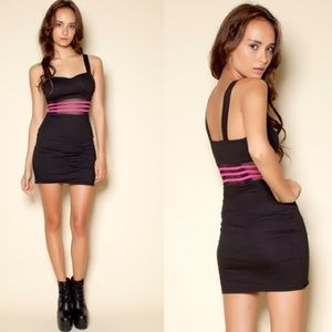 Motel Rocks Dresses & Skirts - MOTEL ROCKS 💗 Black Mini with Mesh