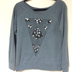 Grey Skull Sweater Shirt