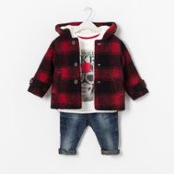 Zara Jackets Amp Coats Baby Boy Red Buffalo Plaid Winter