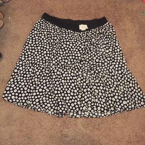 Maeve from Anthropologie black & white mini skirt