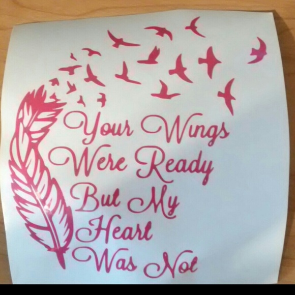Accessories your wings were ready but my heart was not for Your wings were ready but my heart was not tattoo