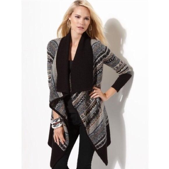 81% off Kensie Sweaters - Kensie Fair Isle Open Cardigan from ...