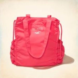 Hollister Handbags - New Hollister Ruched tote bag neon pink