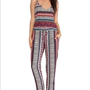 NWT eight sixty printed jumpsuit
