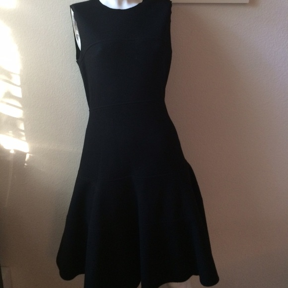 Prada Dresses - Prada Wool Flounce Little Black Dress