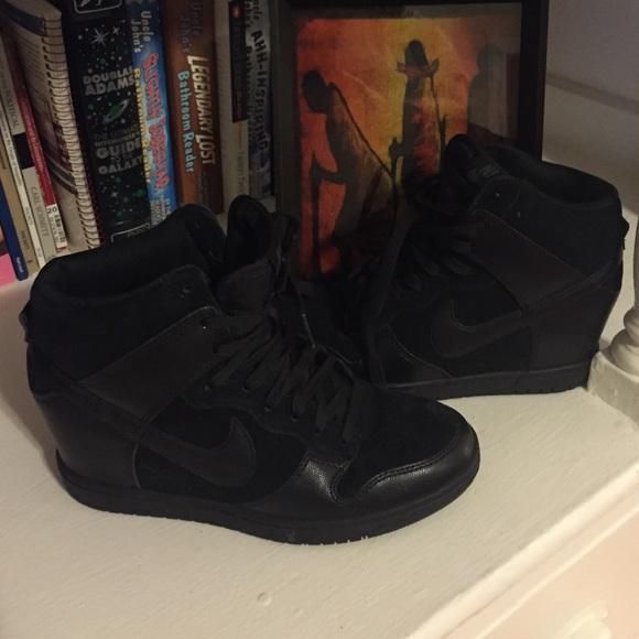Black Nike Hidden Wedge Sneakers. M 5611d3552fd0b778cf005439 c88f105fba7e