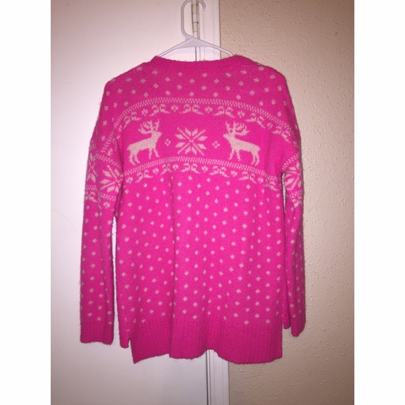 67% off Forever 21 Sweaters - Forever 21 - Pink Reindeer Sweater ...