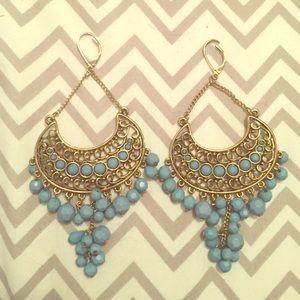 Express turquoise chandelier earrings