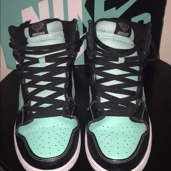 various colors 9500d 2ef85 Nike Sb Tiffany Dunk High Diamond Supply Co
