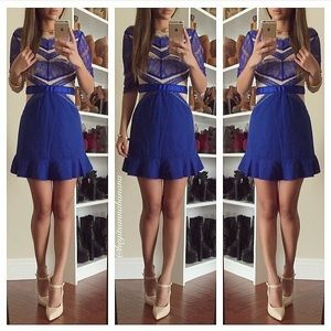 Doll dress in royal blue