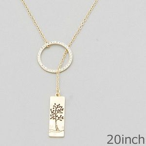 Jewelry - Tree of life gold lariat necklace
