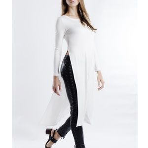 "Bare Anthology Tops - ""Yours Truly"" Side Split Long Sleeve Maxi Top"