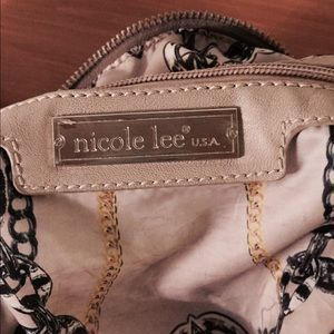 Nicole Lee Bags - Grey and Silver Nicole Lee purse with studs