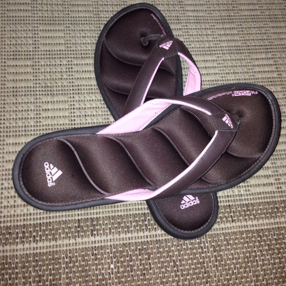 25f537762 Adidas Shoes - fLASH🎈adidas fit foam brown pink sandals