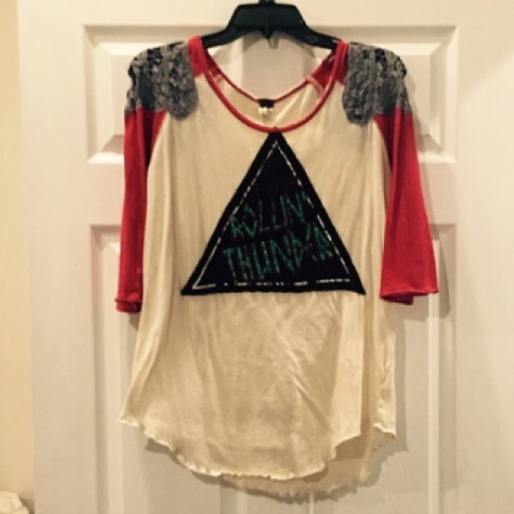 05f9af6d92767 Free People Tops - Free People Rolling Thunder Tee