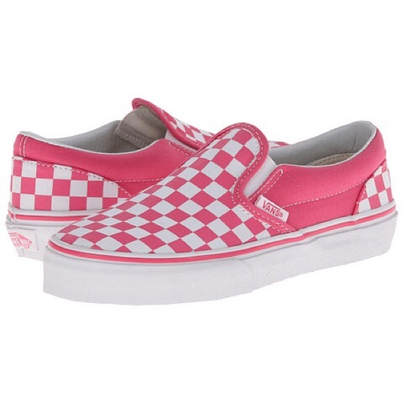 pink slip on vans checkerboard