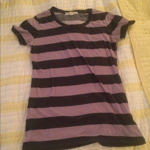 Purples d gray striped shirt