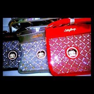 Handbags - SOLD! Betty Boop Rhinestone Embroidery Body Tote