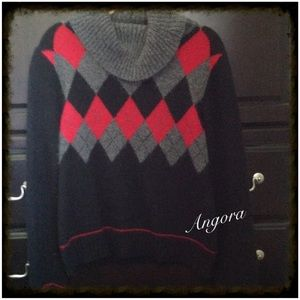Rafaella~ Argyle Sweater