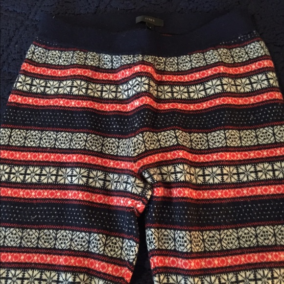 88% off J. Crew Pants - JCrew fair isle leggings from Claire's ...