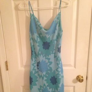 Blue dress from Express with Slits on the sides