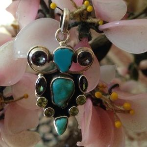 Vintage925  turquoise pendent