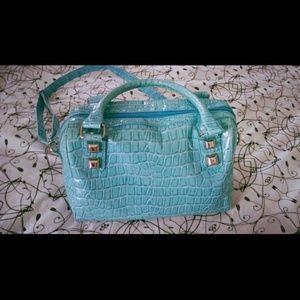Cato Handbags - 🚫✔Sold!! Turquoise crocodile skin handbag