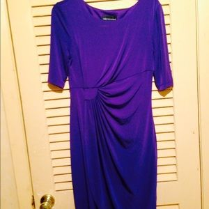 Connected Apparel Dresses & Skirts - Purple short sleeve dress