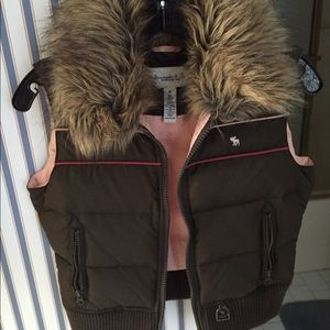 Abercrombie and Fitch fur vest