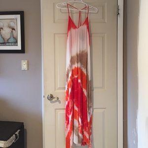Young fabulous and broke tie dye maxi dress. S
