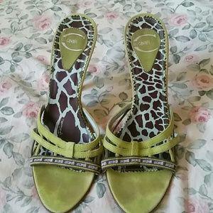 Just Cavalli vintage sandal / slide suede sandal