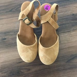 Shoes - White Mountain Brown Suede Clog Heels