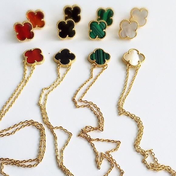 Clover Necklace Van Cleef: Van Cleef And Arpels Clover #IN45