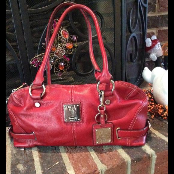 70a282e27fa3 Tignanello Red Leather Purse