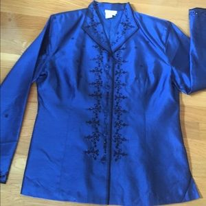 Dress Barn Collection silk blouse, large
