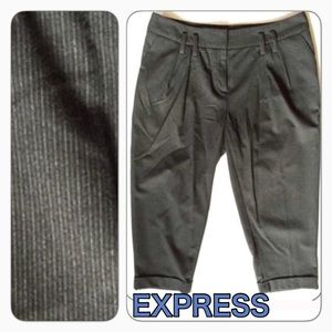 Express cool career pants cropped cuffed