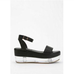 3c0904ce3cc Urban Outfitters Shoes | Clear Flatform Platform Sandal | Poshmark