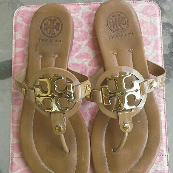 1442759f261 Tory Burch Miller 2 Sandals Patent Nude Sand. M 5619488b7e7ef69d210149bb